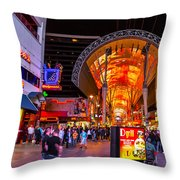 Fremont Street Lights 2 Throw Pillow