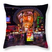 Fremont Street Lights 3 Throw Pillow