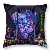 Fremont Street Lights Throw Pillow