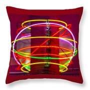 Fremont Street Neon Sphere Throw Pillow