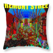 Fremont Street Poster Work C Throw Pillow