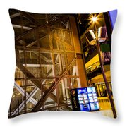 Fremont Street Structure Throw Pillow