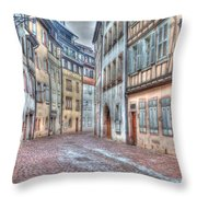 French Alley Throw Pillow