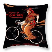 French Bicycles Throw Pillow