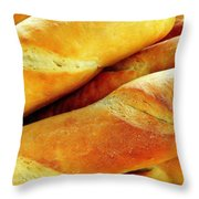 French Bread Throw Pillow
