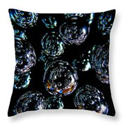 French Bubbles Throw Pillow