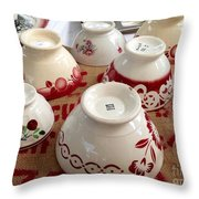 French Cafe Bowls Throw Pillow