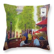 French Cafe Throw Pillow