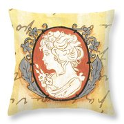 French Cameo 2 Throw Pillow