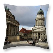 French Cathedral And Concert Hall - Berlin  Throw Pillow