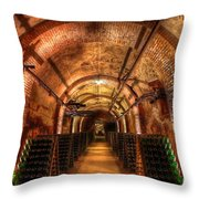 French Champagne Cellar Throw Pillow