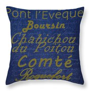 French Cheeses - 2 Throw Pillow
