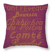 French Cheeses - 3 Throw Pillow by Paulette B Wright