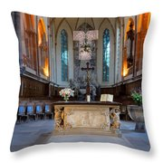 French Church Alter Throw Pillow