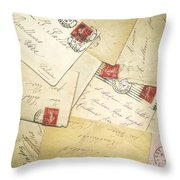 French Correspondence From Ww1 #1 Throw Pillow by Jan Bickerton