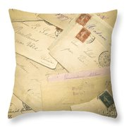 French Correspondence From Ww1 #2 Throw Pillow