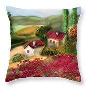 French Country Squared Throw Pillow
