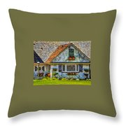 French Countryside In The Desert Throw Pillow