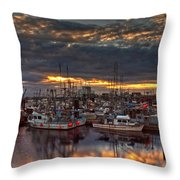 French Creek Sunrise Throw Pillow