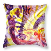 French Curve Abstract Movement II Throw Pillow