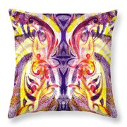 French Curve Abstract Movement V Magic Butterfly  Throw Pillow