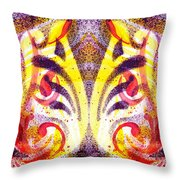French Curve Abstract Movement Vi Mystic Flower Throw Pillow