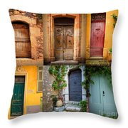 French Doors Throw Pillow by Inge Johnsson