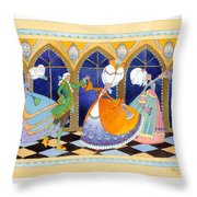 French Dream Dance Throw Pillow