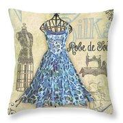 French Dress Shop-b Throw Pillow
