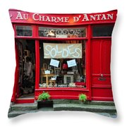French Gift Shop Throw Pillow