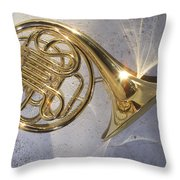 French Horn Iv Throw Pillow