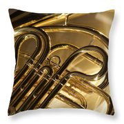 French Horn I Throw Pillow