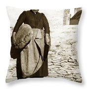 French Lady With A Very Large Bread France 1900 Throw Pillow