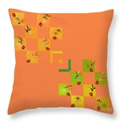 French Lillies Abstract Throw Pillow
