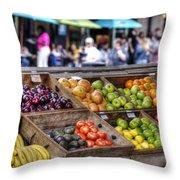 French Market Throw Pillow