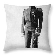 French Officer, 1814 Throw Pillow