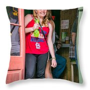 French Quarter - A Hand Grenade To Die For Throw Pillow