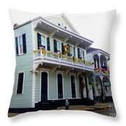 French Quarter Architecture Throw Pillow