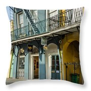 French Quarter Art And Artistry Throw Pillow