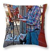 French Quarter Artist Throw Pillow by Steve Harrington
