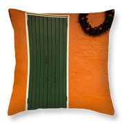 French Quarter Door - 33 Throw Pillow