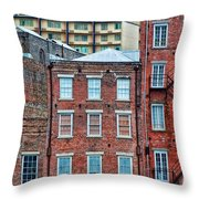 French Quarter Facades New Orleans Throw Pillow