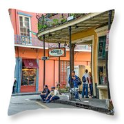 French Quarter - Hangin' Out Throw Pillow