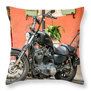 French Quarter Harley Throw Pillow