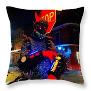 French Quarter Monster  U Have The Time Throw Pillow