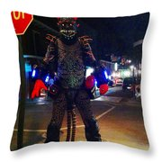 French Quarter Monster Throw Pillow