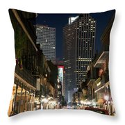 French Quarter New Orleans Louisiana Throw Pillow