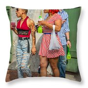 French Quarter - Party Time Throw Pillow