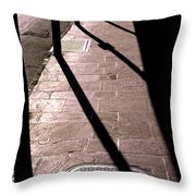 French Quarter Sidewalk Shadows New Orleans Throw Pillow