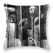 French Quarter Street Lamp Throw Pillow